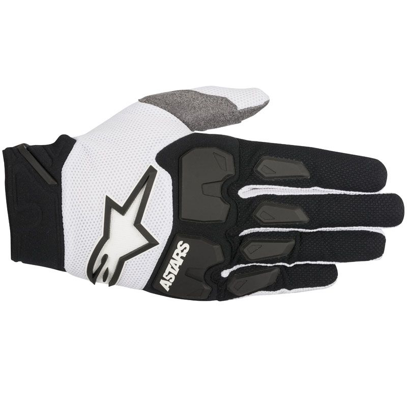 Gants cross Alpinestars RACEFEND BLACK WHITE  2018