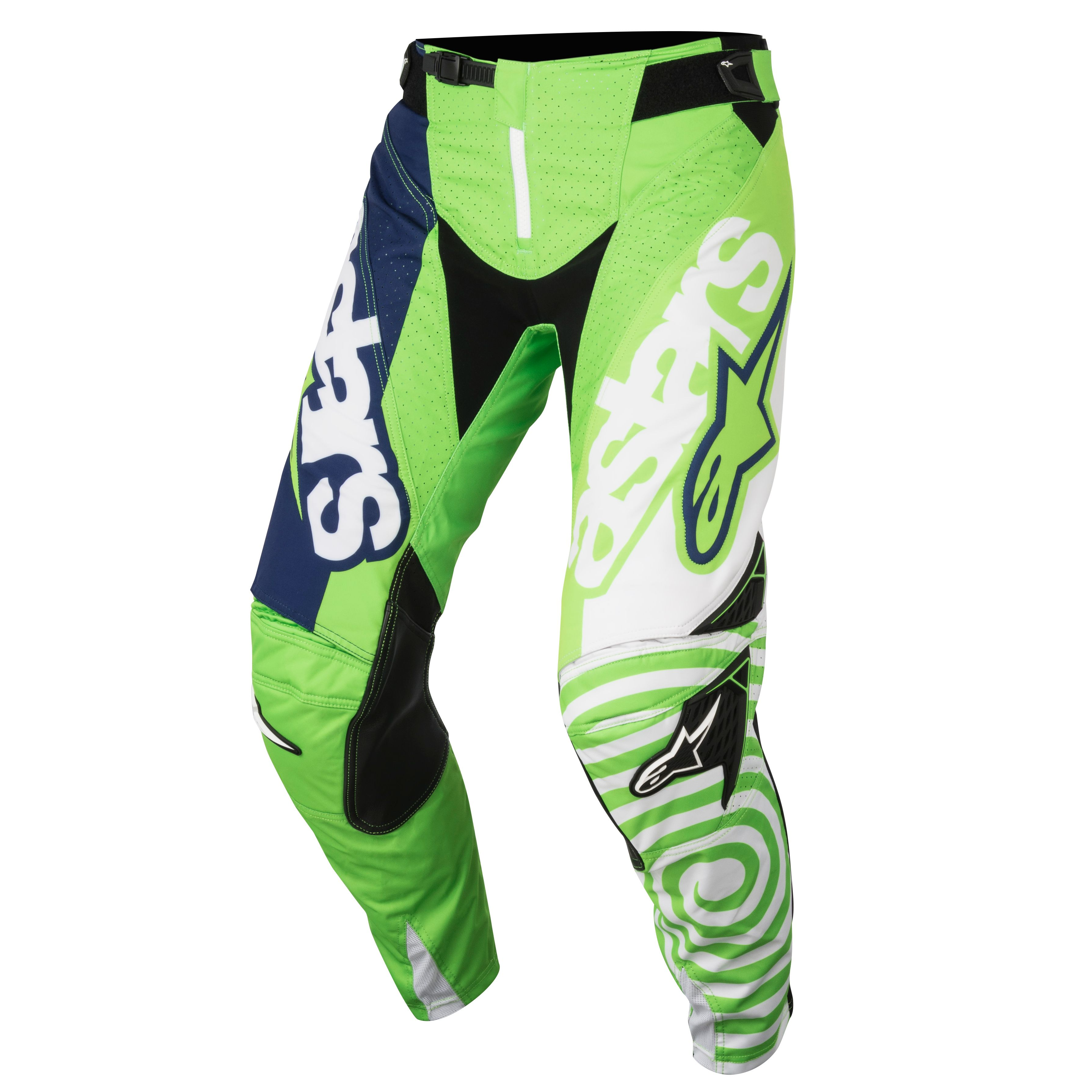 Pantalon cross Alpinestars RACER VENOM GREEN FLUO WHITE DARK BLUE ENFANT  2018