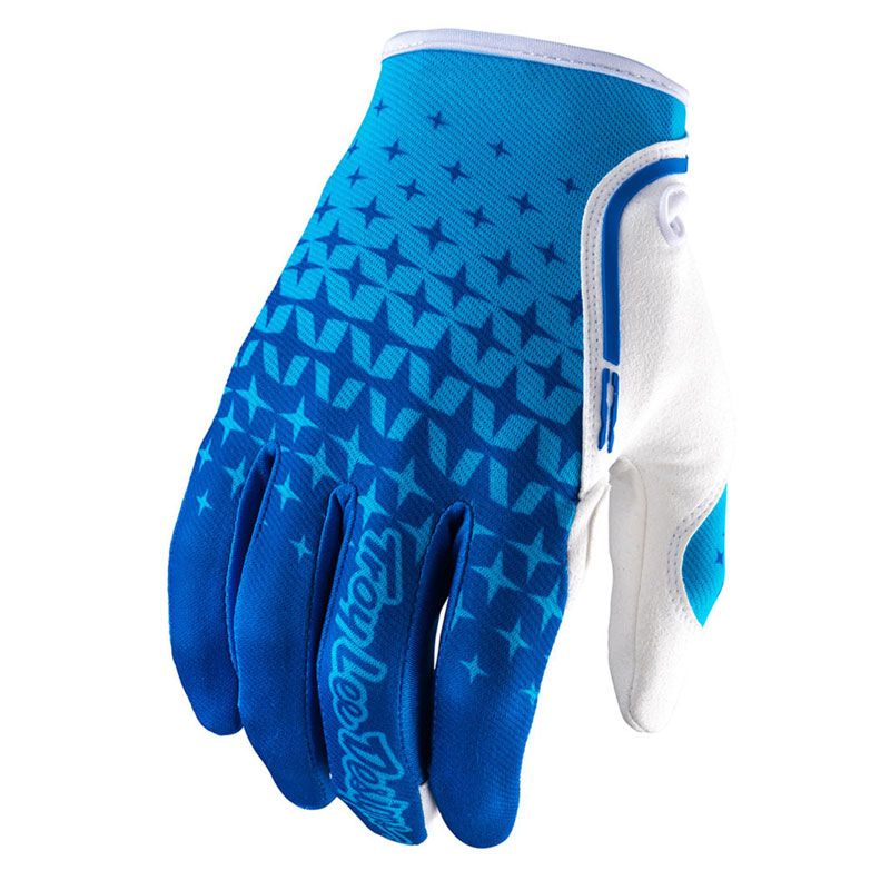 Gants cross TroyLee design XC STARBURST BLUE/CYAN  2017