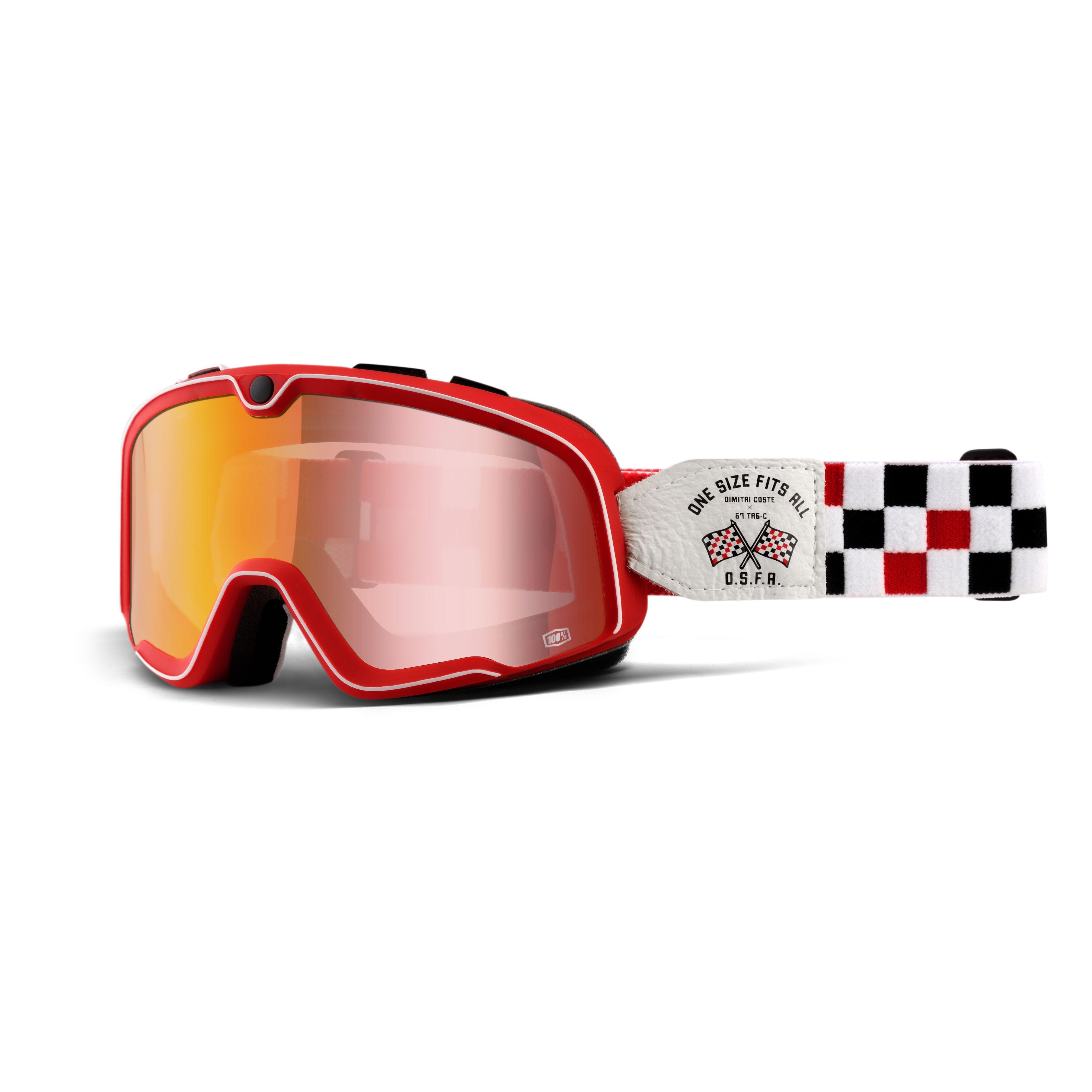 lunettes moto 100 barstow osfa 2 ecran rouge enduro. Black Bedroom Furniture Sets. Home Design Ideas