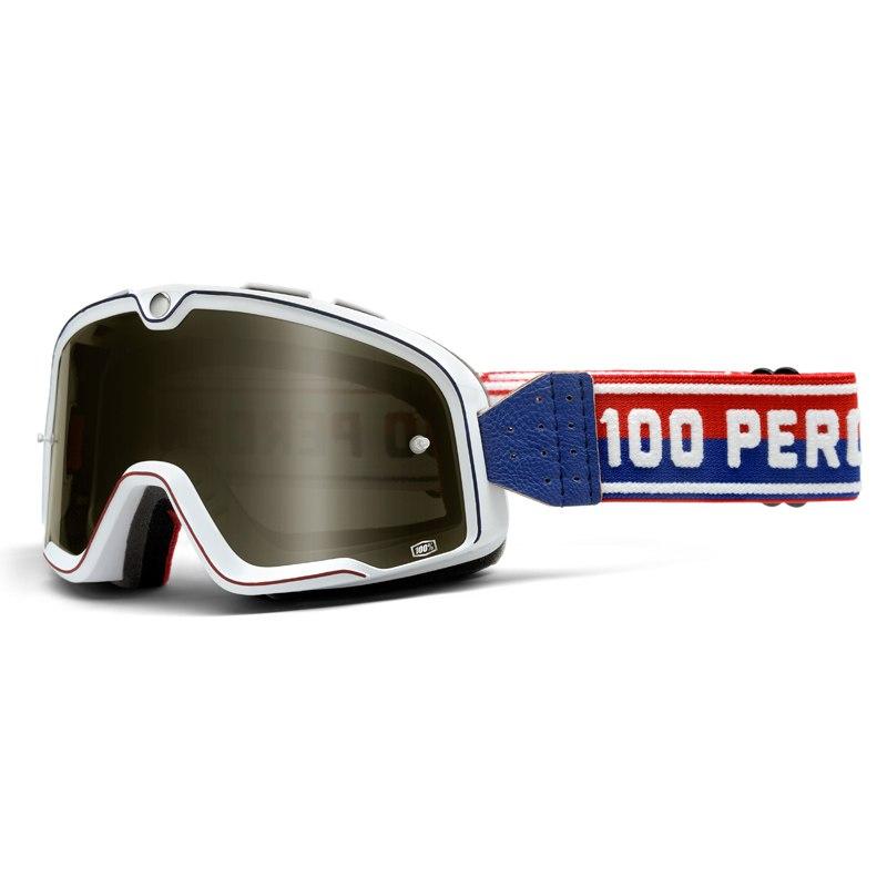 Lunettes Moto 100% Barstow - Classic White - Ecran Fume