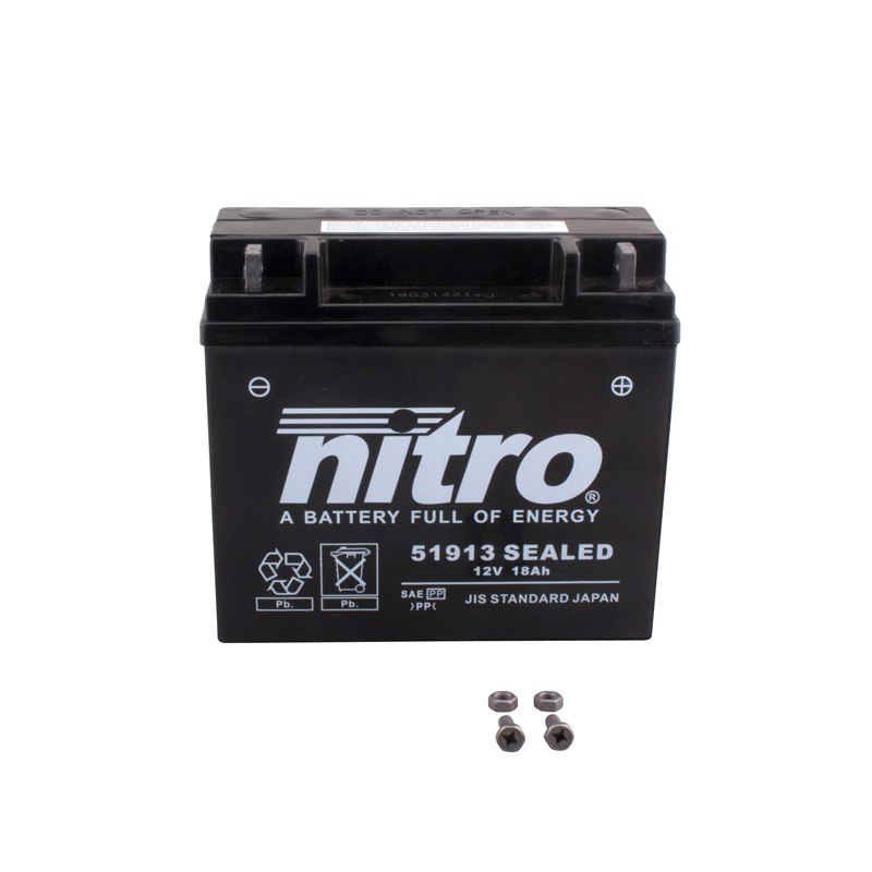Batterie Nitro 51913 Sealed Ferme Type Acide Sans Entretien