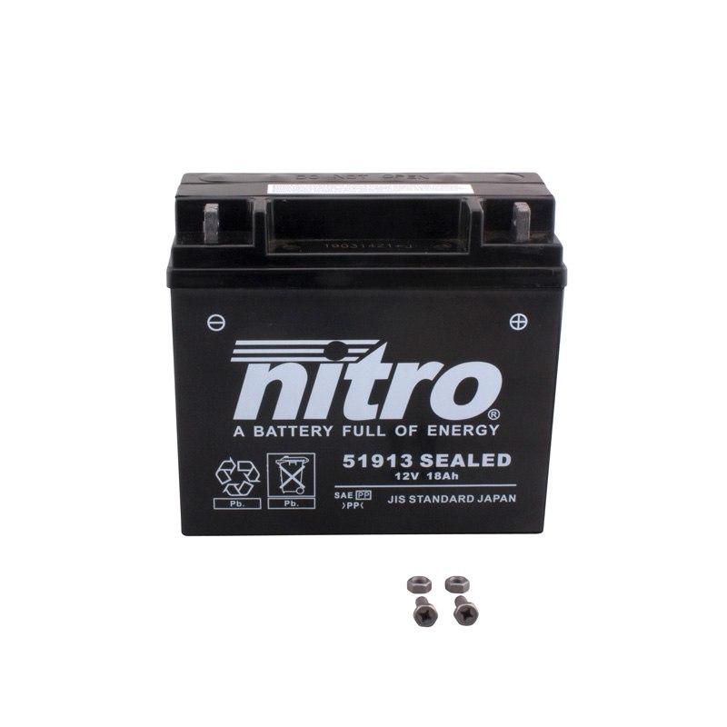 batterie nitro 51913 sealed ferme type acide sans. Black Bedroom Furniture Sets. Home Design Ideas
