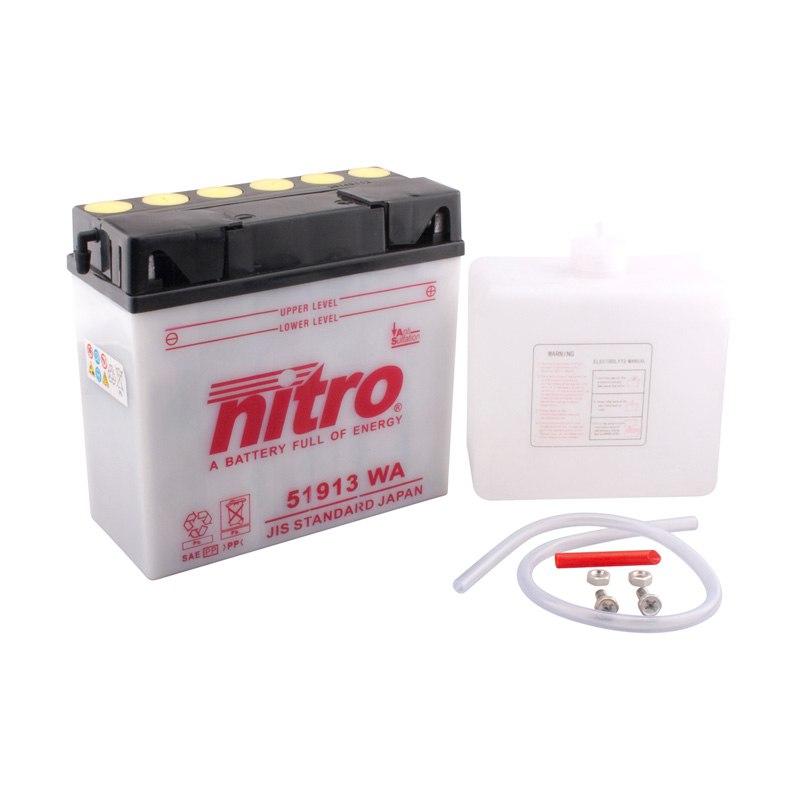 Batterie Nitro 51913 Ouvert Avec Pack Acide Type Acide