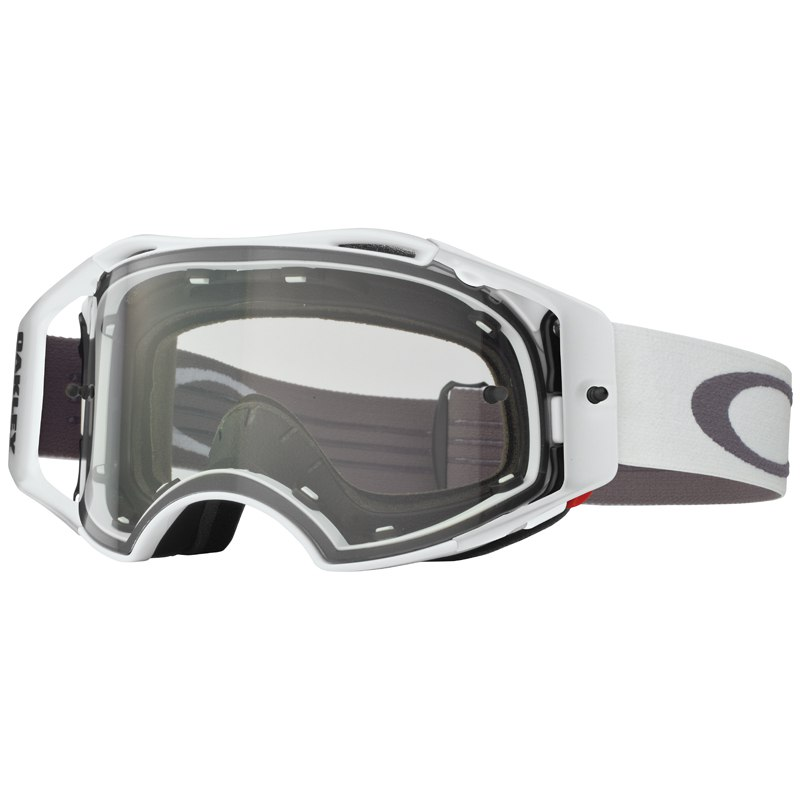 Masque cross Oakley AIRBRAKE MX WHITE RETRO SPEED