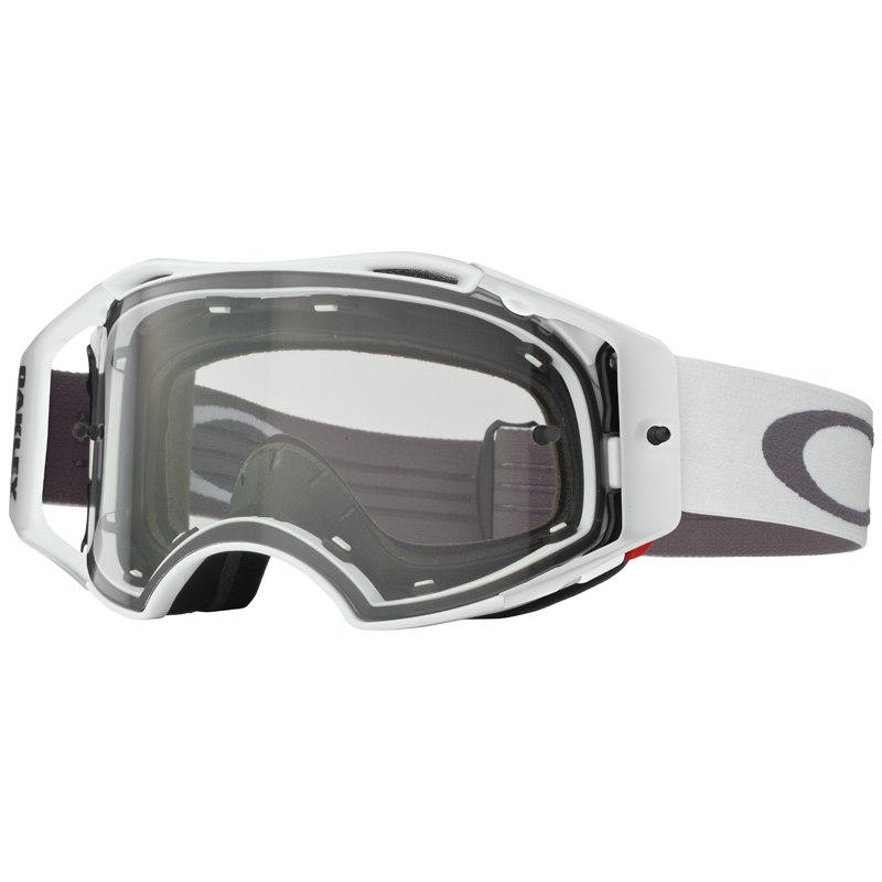 Masque cross Oakley AIRBRAKE MX WHITE RETRO SPEED