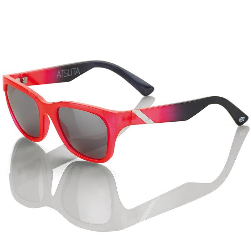 Lunettes De Soleil 100% Atsuta Neon Red Black Fade