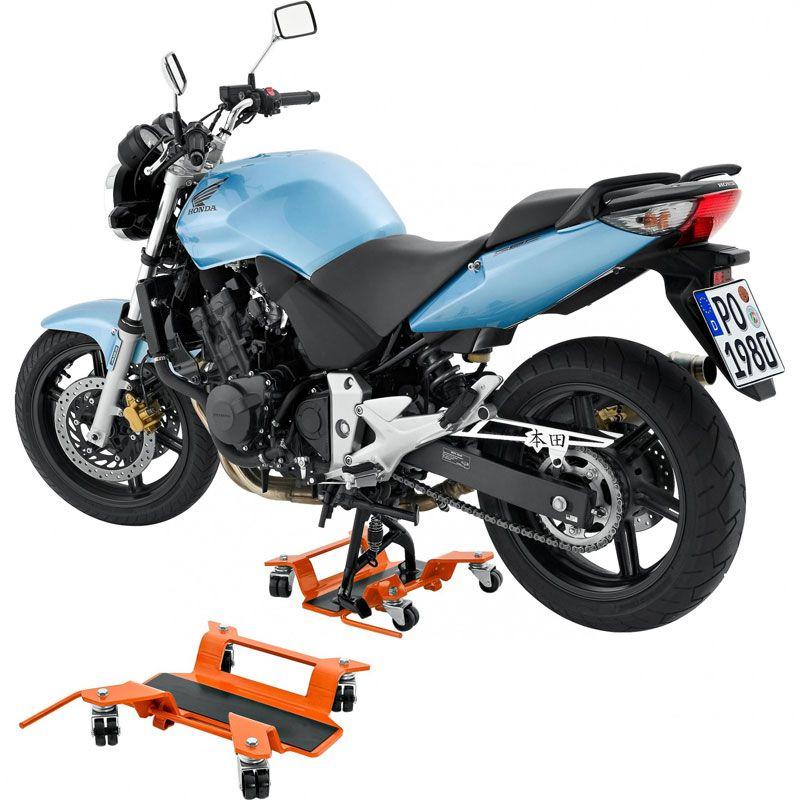 Lève moto HI-Q TOOLS à roulette pour béquille centrale