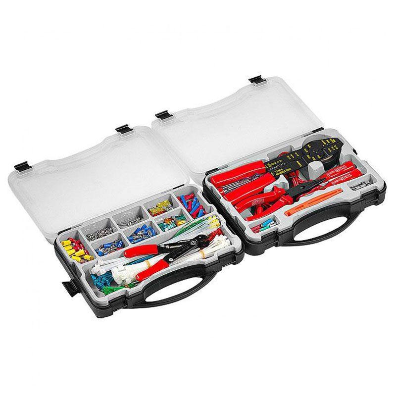 Coffret HI-Q TOOLS assortiment type électricité avec outils (399 pièces)