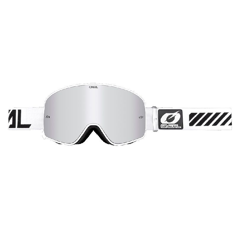 Masque Cross O'neal B-50 - Force Blanc - Ecran Iridium -