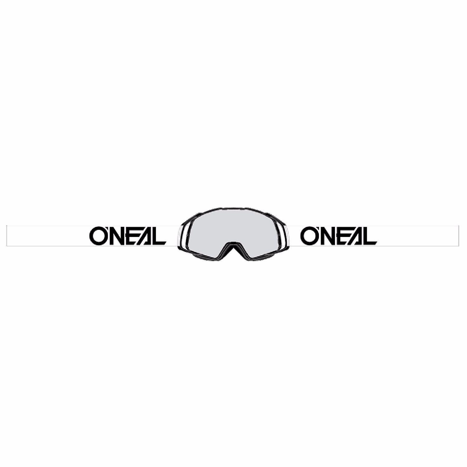 Masque Cross O'neal B-20 - Flat Noir Blanc - Ecran Clair -