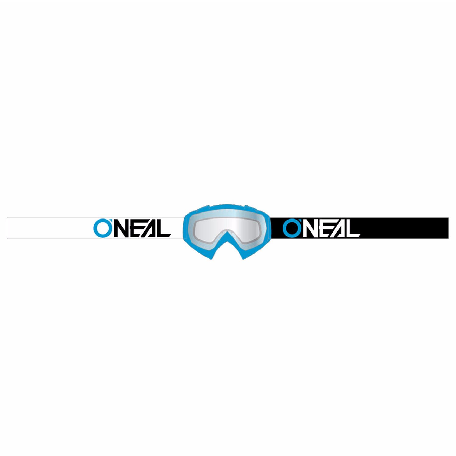 Masque Cross O'neal B-10 - Twoface Bleu - Ecran Clair -