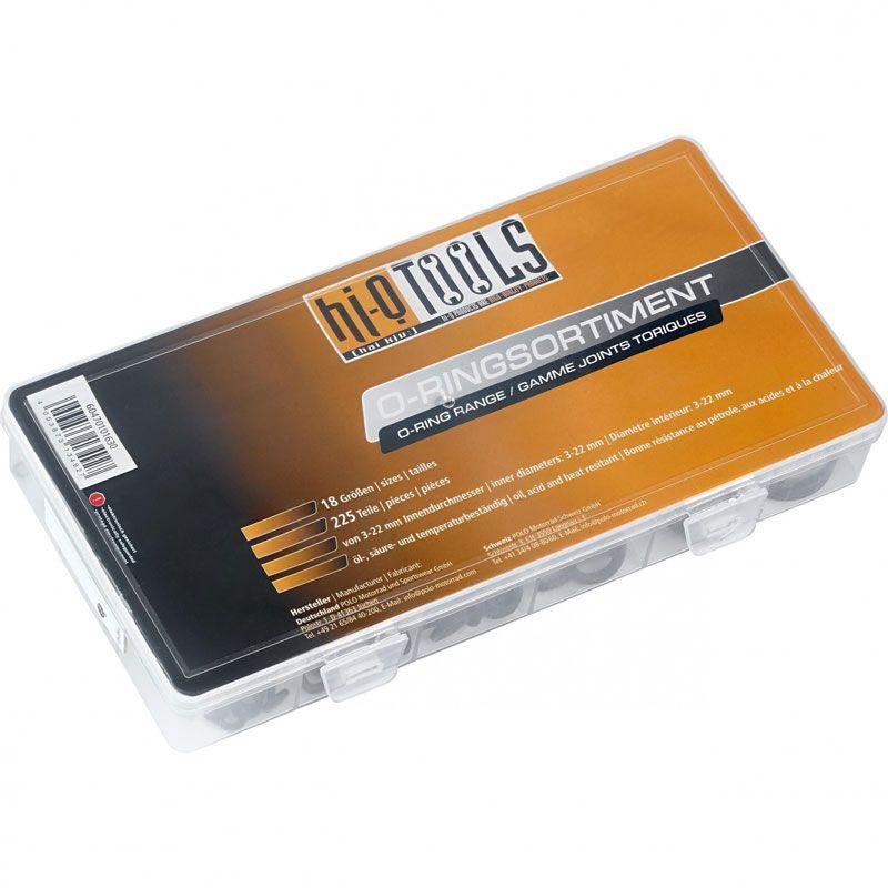 Coffret HI-Q TOOLS assortiment de joints toriques (225 pièces)