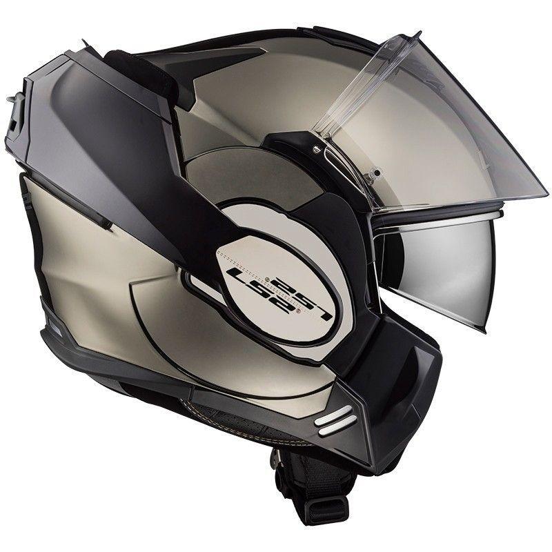 Casque Ls2 Ff399 Valiant Solid Chrome Casque Modulable Motoblouzcom