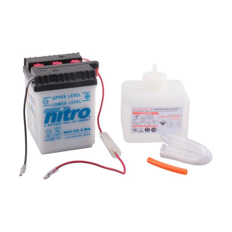 Batterie Nitro 6n4-2a-4 Ouvert Avec Pack Acide Type Acide