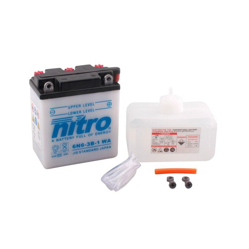 Batterie Nitro 6n6-3b-1 Ouvert Avec Pack Acide Type Acide