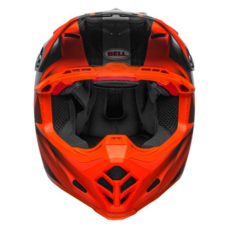 Casque Cross Bell Moto 9 Carbon Flex Orangegris 2019 Casque Cross