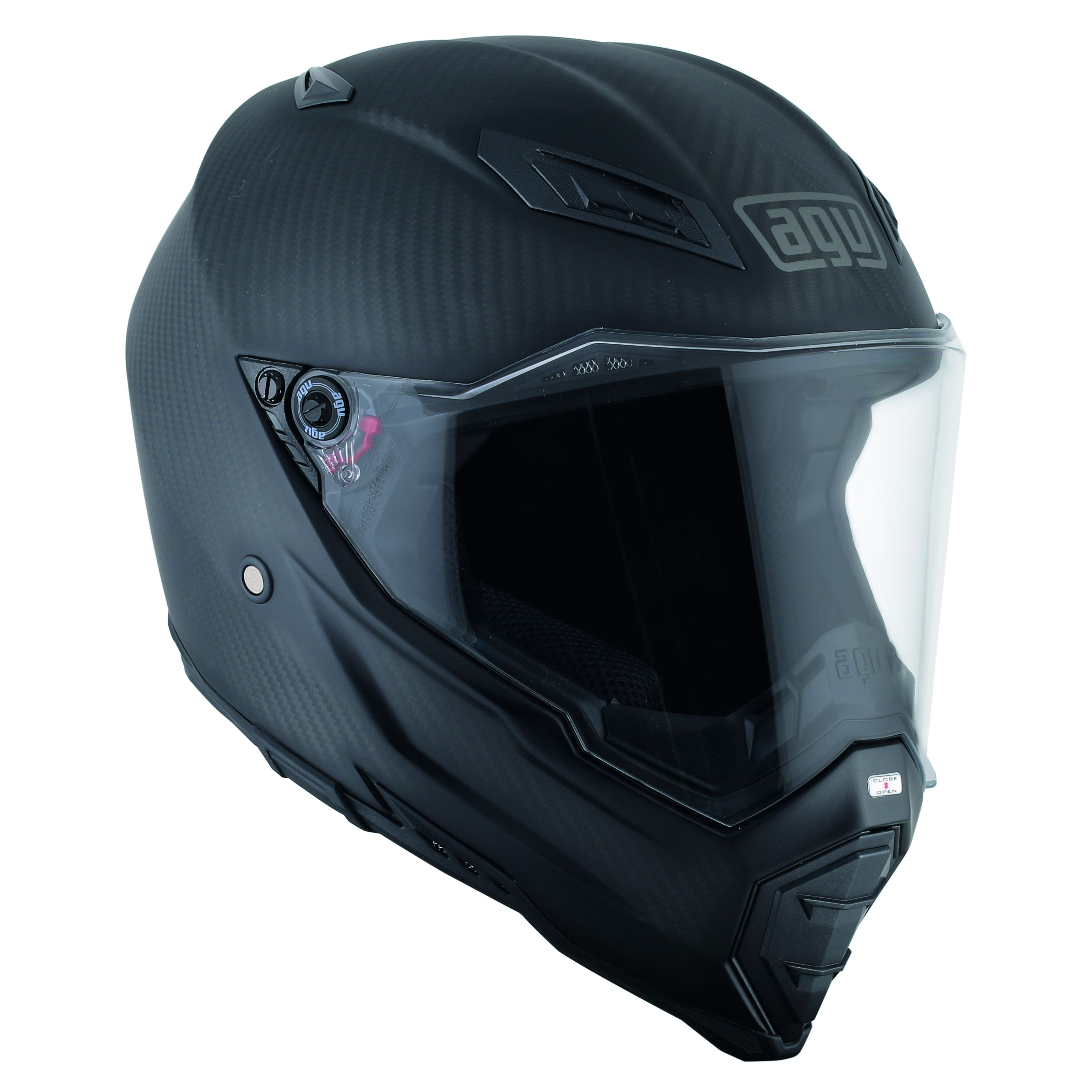 Casque Agv Ax-8 Naked Carbon - Matt Carbon