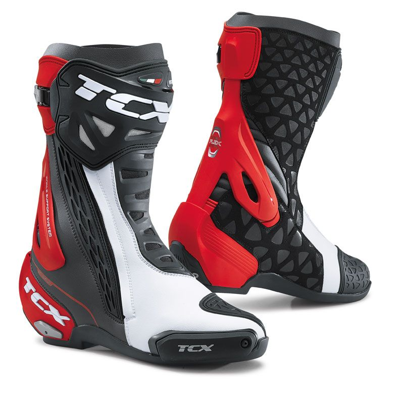 Bottes TCX Boots RT RACE - BLACK WHITE RED