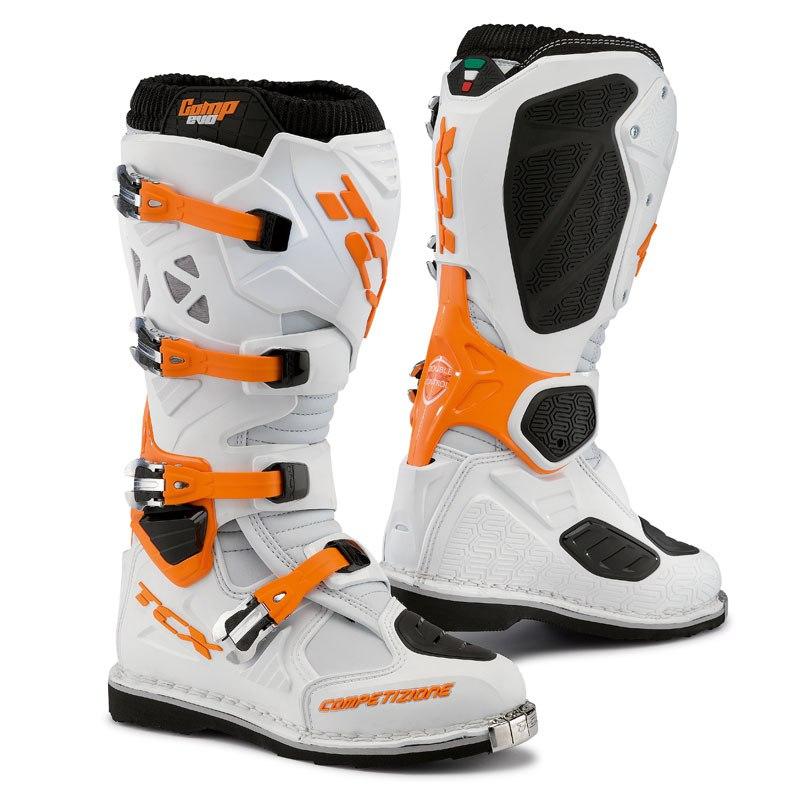 Bottes Cross Tcx Boots Comp Evo Blanc/orange