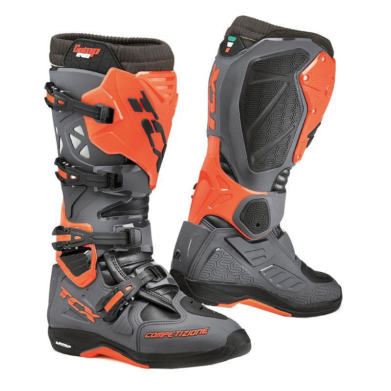 Bottes Cross Tcx Boots Comp Evo Michelin Gris Fonce/orange Fluo