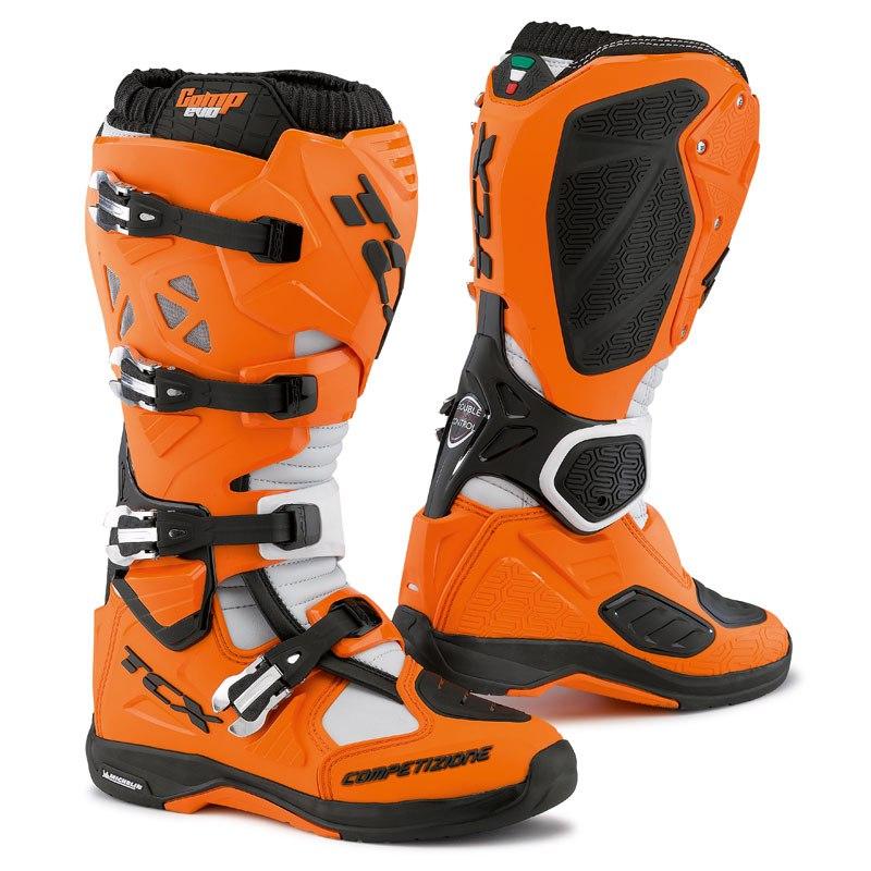 Bottes Cross Tcx Boots Comp Evo Michelin Orange Noir
