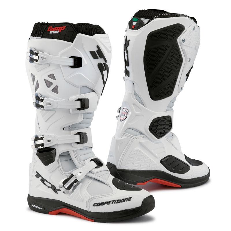 Bottes Cross Tcx Boots Comp Evo Michelin Blanc