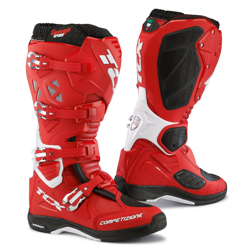 Bottes Cross Tcx Boots Comp Evo Michelin Rouge Blanc