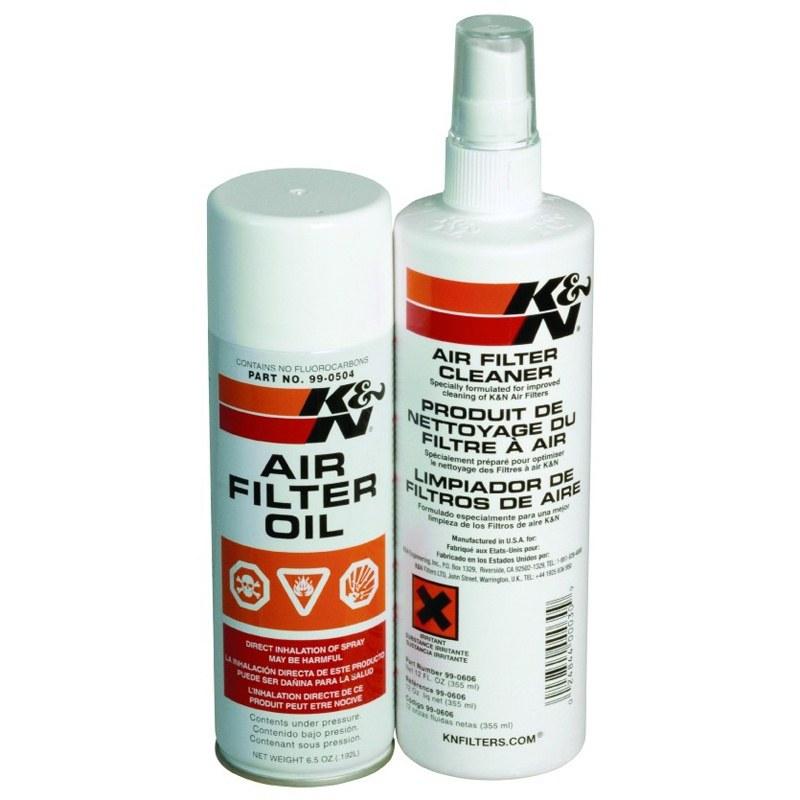Kit K&n Nettoyant Et Graisseur Filtre A Air