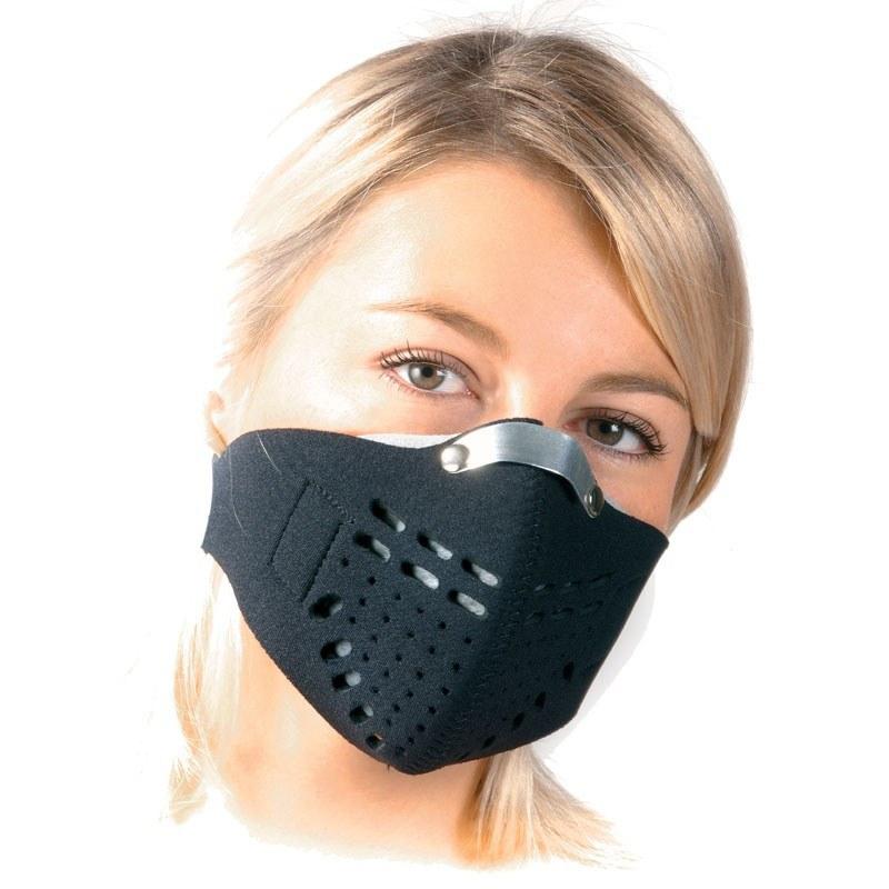 masque moto pollution