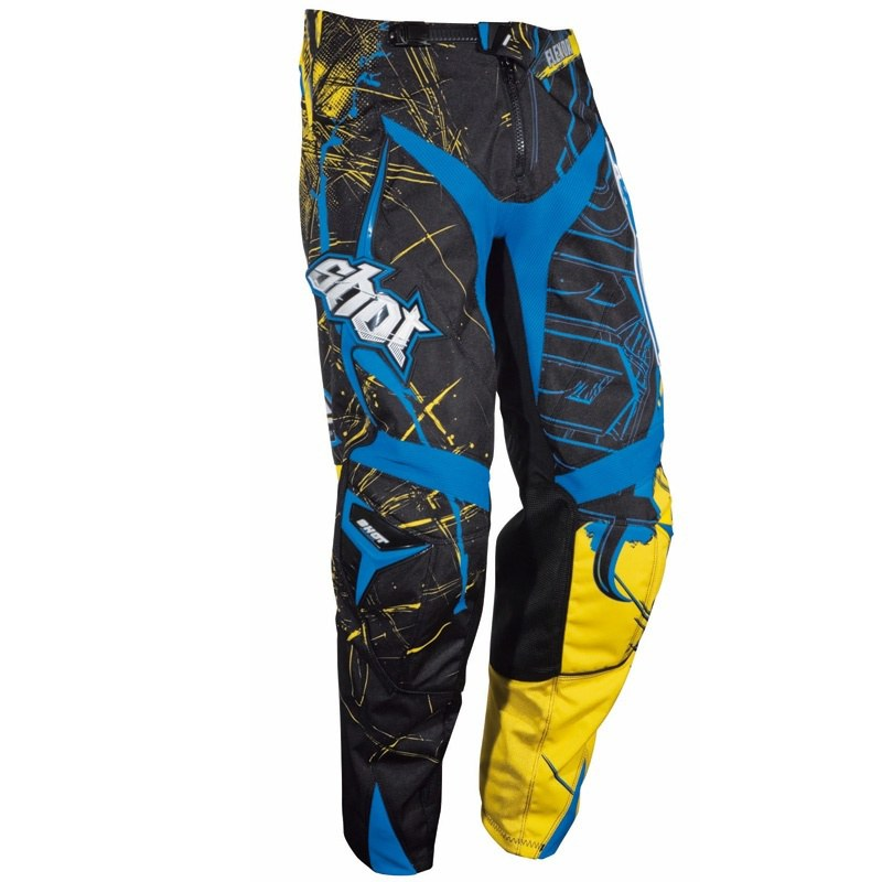 Pantalon cross Shot FLEXOR HEAVY BLEU JAUNE PANT 2012
