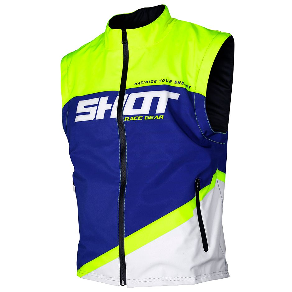 Veste enduro Shot BODYWARMER LITE - BLUE NEON YELLOW 2020