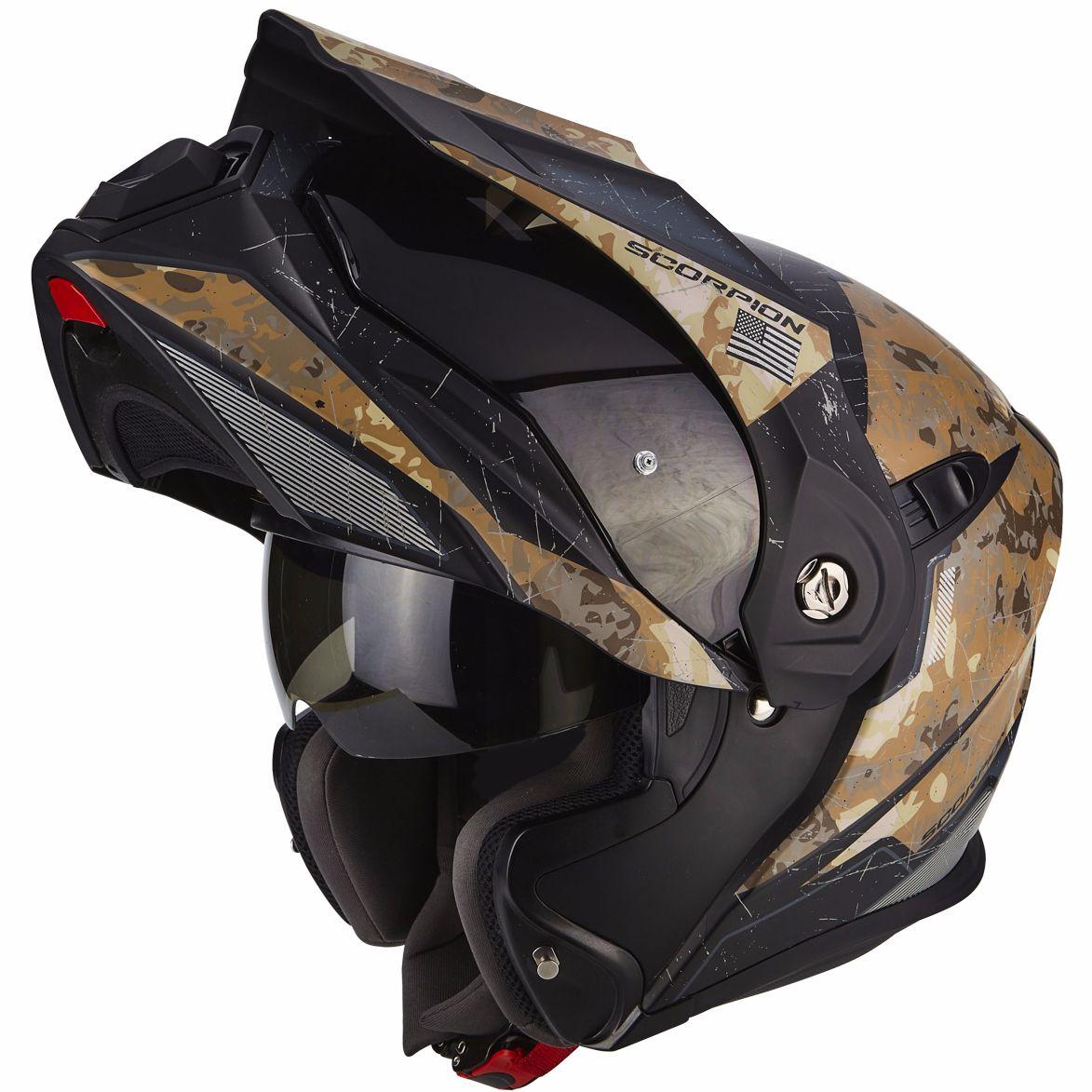 casque scorpion exo adx 1 battleflage casque modulable. Black Bedroom Furniture Sets. Home Design Ideas