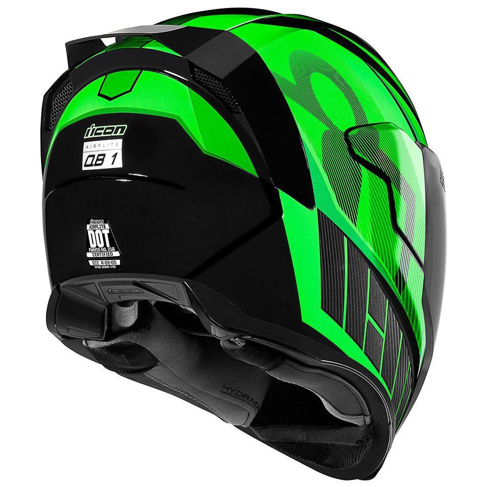 ICON 2019 QB1 Casque de Moto Airflite Vert