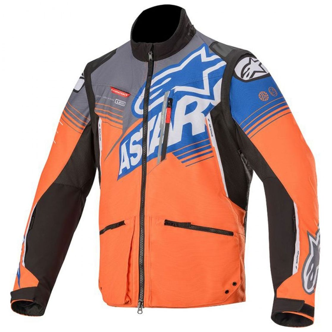 Veste enduro Alpinestars VENTURE R - ORANGE GRAY BLUE 2020
