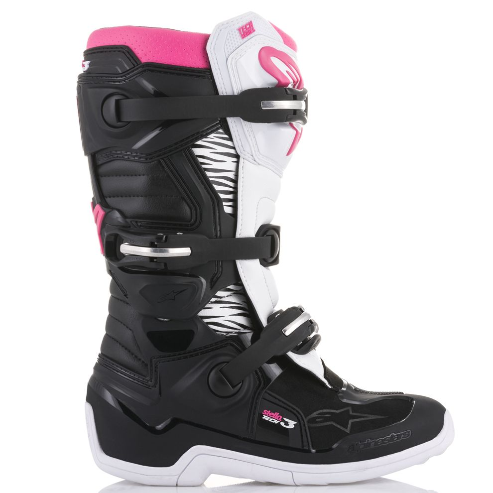 Bottes cross Alpinestars STELLA TECH 3 - BLACK WHITE PINK 2021