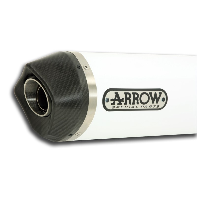 Silencieux Arrow Alu blanc Thunder embout carbone