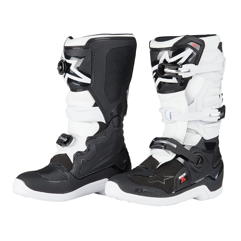 bottes cross alpinestars tech 7s black white enfant 2018 enfant. Black Bedroom Furniture Sets. Home Design Ideas