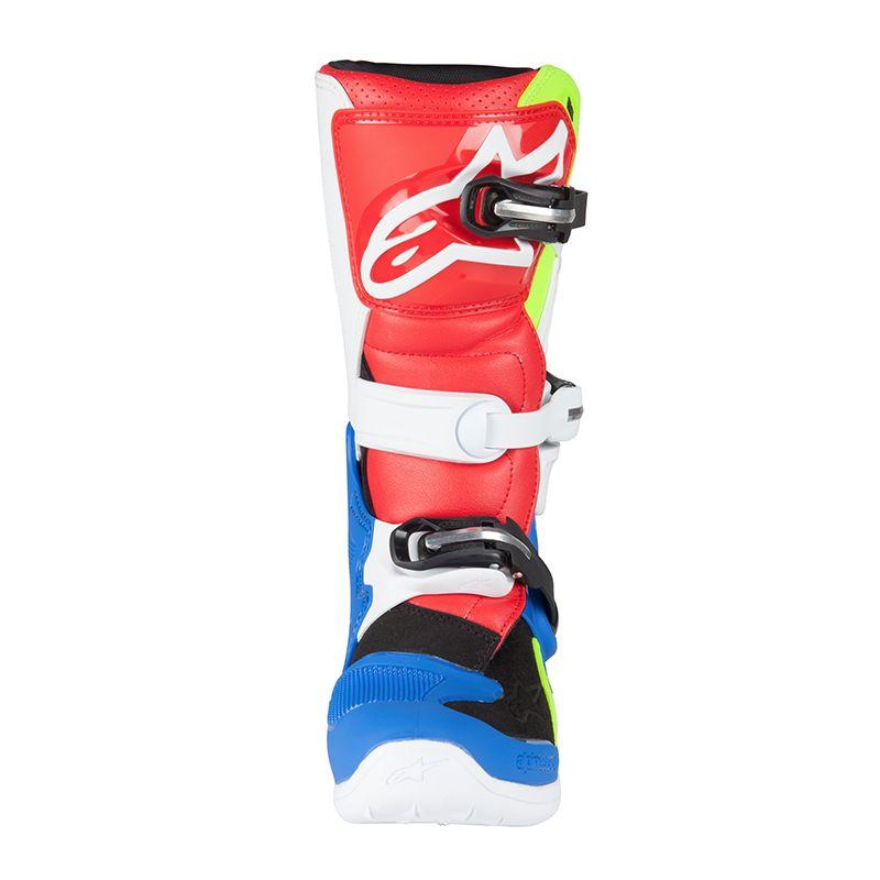 40d646d47f5c54 Bottes cross Alpinestars TECH 7S BLUE WHITE RED YELLOW FLUO ENFANT ...