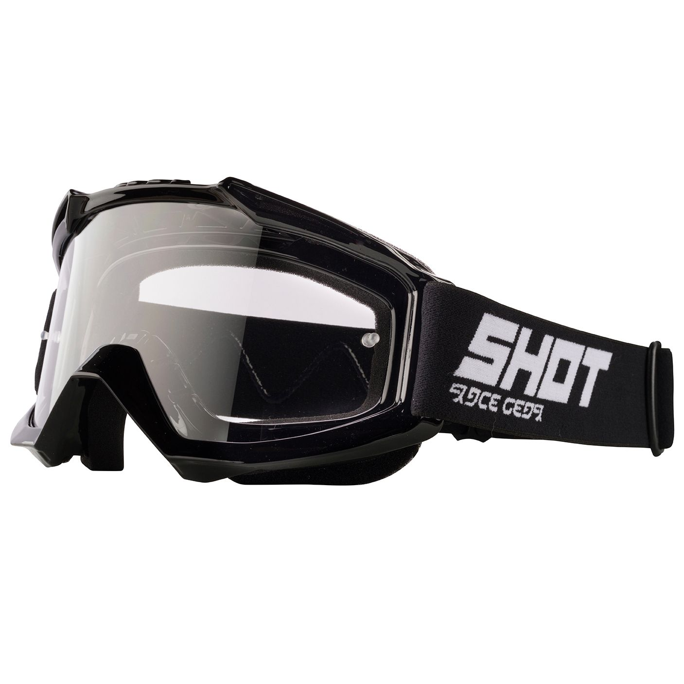 Masque cross Shot ASSAULT - BLACK GLOSSY 2020