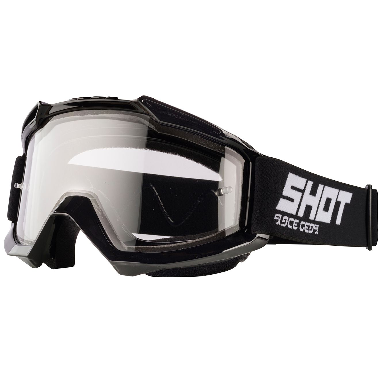 Masque cross Shot ASSAULT ENDURO - BLACK GLOSSY 2020