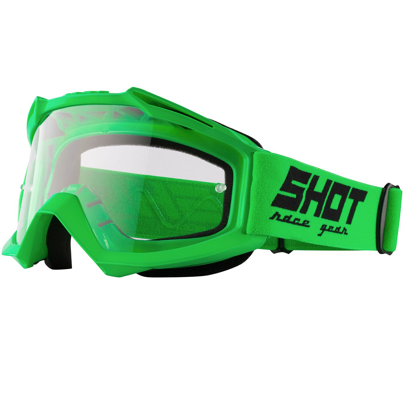 Masque cross Shot ASSAULT - NEON GREEN GLOSSY 2021