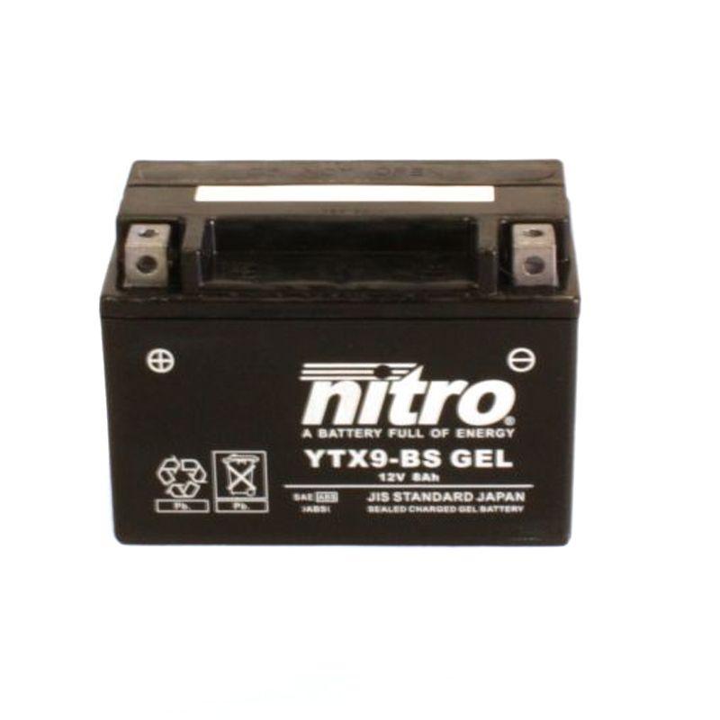 Batterie Nitro YTX9-SLA SLA FERME TYPE ACIDE SANS ENTRETIEN/PRÊTE À L'EMPLOI