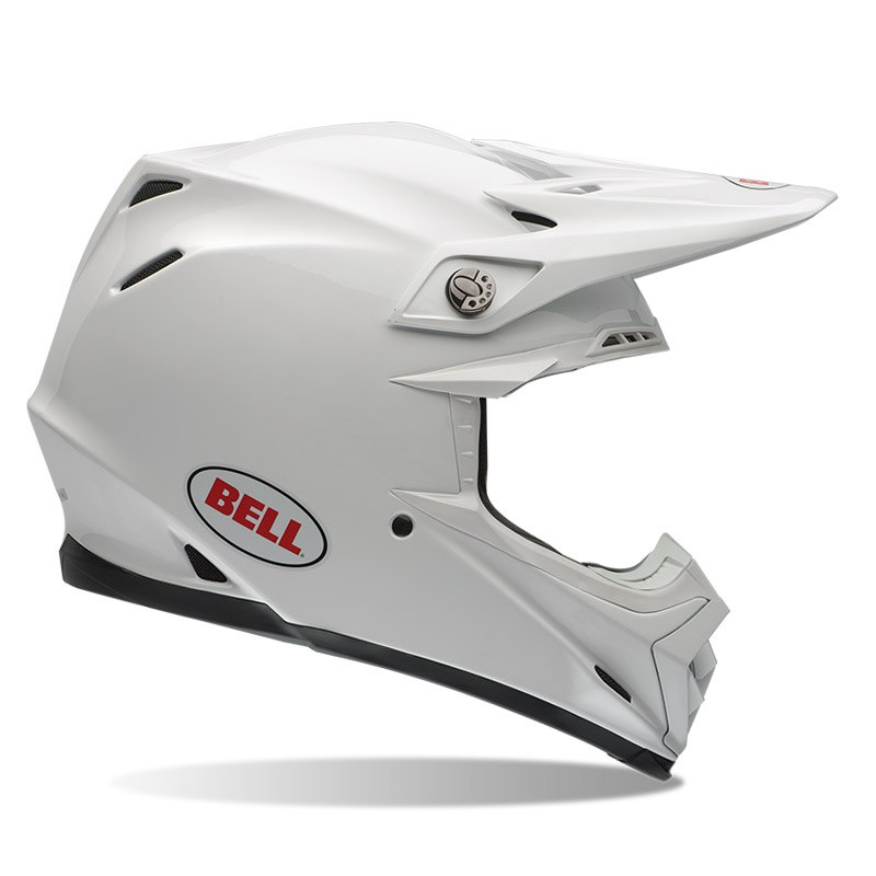 Casque Cross Bell Moto-9 Carbon Flex - Solid Blanc -
