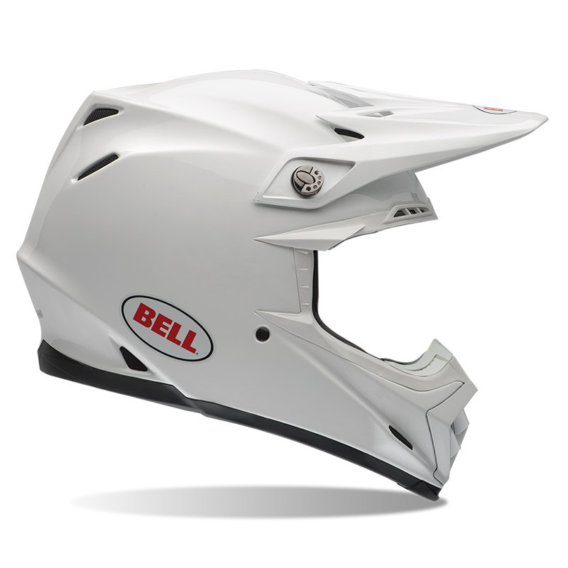 Casque Cross Bell Moto-9 - Solid Blanc -