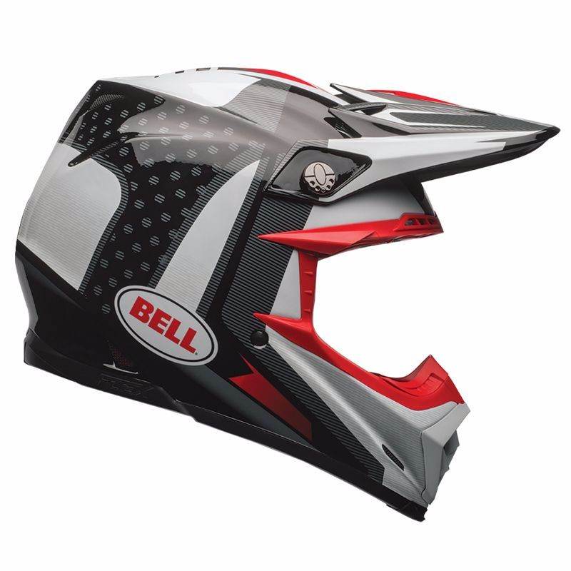 Casque Cross Bell Moto-9 Carbon Flex - Vice Noir Blanc -