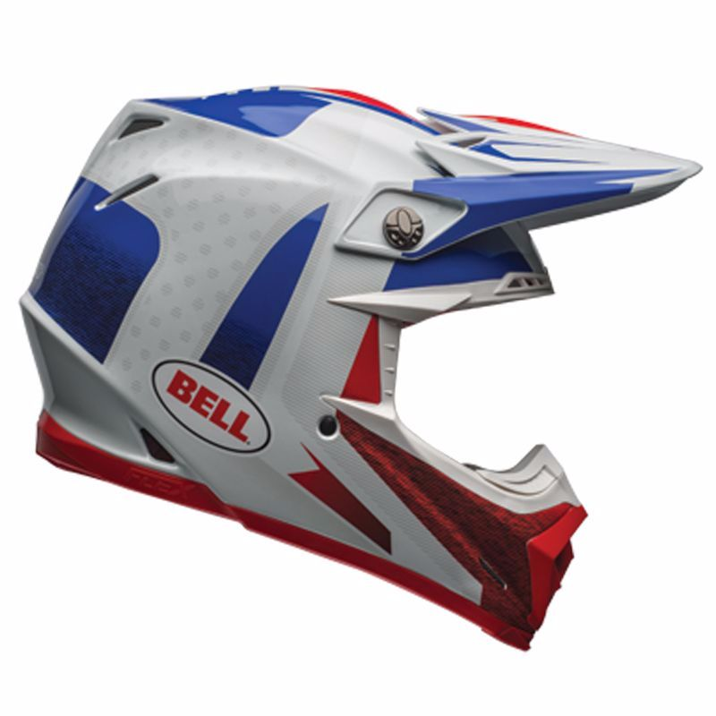 Casque Cross Bell Moto-9 Carbon Flex - Vice Bleu Rouge -