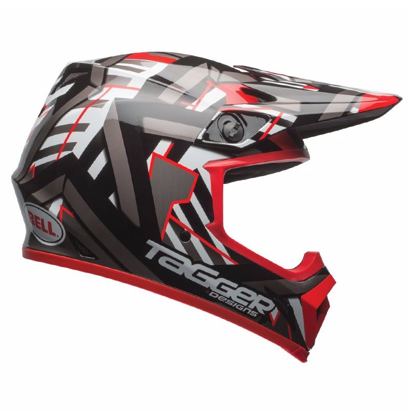 Casque cross Bell destockage MX-9 MIPS - DOUBLE TROUBLE NOIR ROUGE - 2017