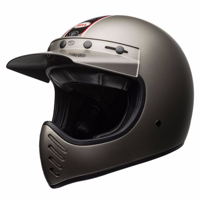Casque Bell destockage MOTO-3 - INDEPENDENT TITANIUM