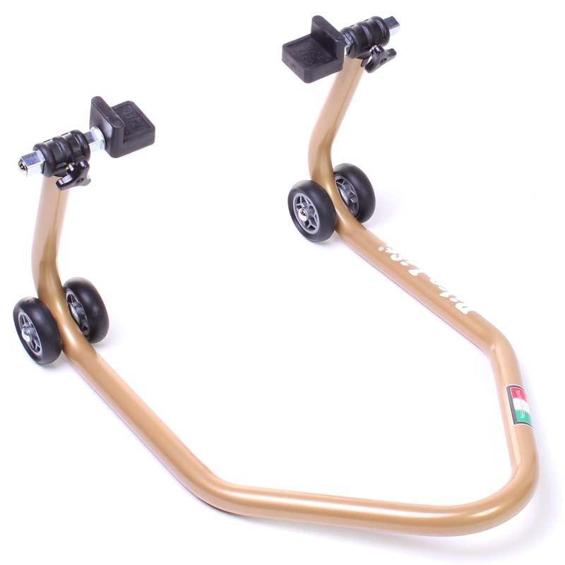 b quille bike lift rs 17 or avec support caoutchouc outillage et entretien. Black Bedroom Furniture Sets. Home Design Ideas